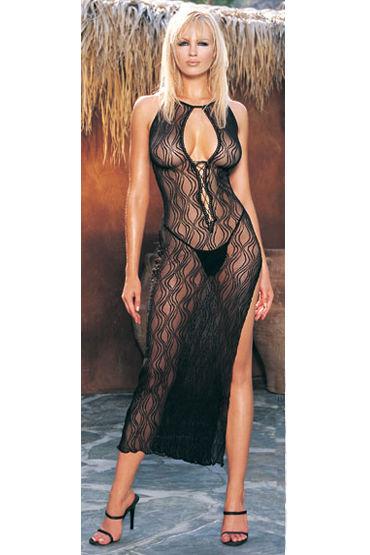 Leg Avenue комплект Платье с разрезом сбоку и стринги california exotic enchanted bunny мощный вибратор с ротацией