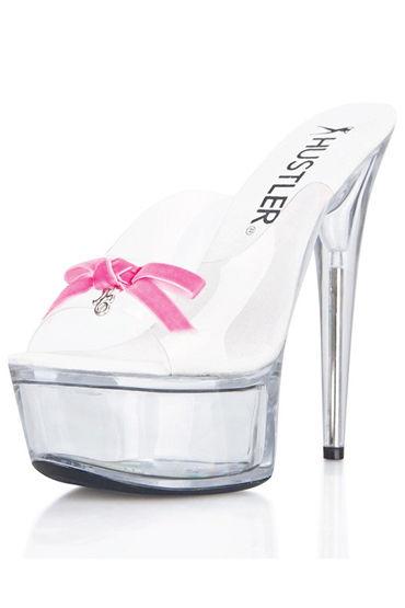 Hustler Pink Bow Сабо на прозрачной платформе, 15 см я pink lipstick комплект