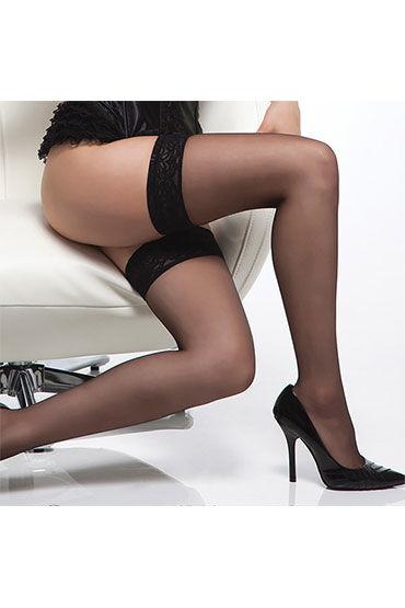 Coquette чулки, черные С простой резинкой coquette lingerie чулки пояс для чулок