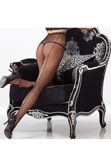 Coquette колготки, черные Со стразами по шву l coquette комплектации