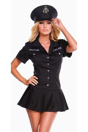 Hustler Полицейский Соблазнительное платье и фуражка мужские эротические футболки и майки размер xl