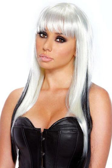 Erotic Fantasy Extravagance Белый с черными прядями fever yasmin wig blonde парик с челкой