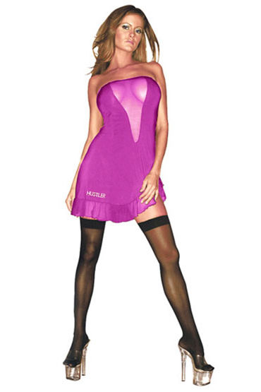 Hustler платье, розовое Без бретелей я hustler платье золотое