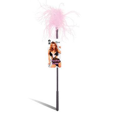 Lux Fetish щекоталка С розовыми перьями baile вибратор с тремя источниками вибрации
