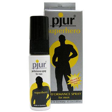 Pjur Superhero Spray, 20 мл Пролонгирующий спрей для мужчин презерватив luxe молитва девственницы 1