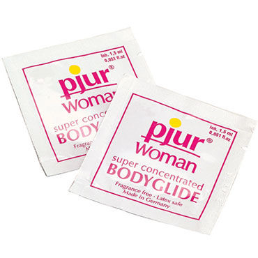 Pjur Woman Body Glide, 1,5 мл Силиконовый лубрикант для женщин лубрикант на силиконовой основе shiatsu love glide 100 ml