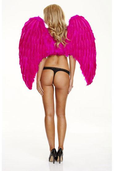 Electric Lingerie Fantasy Dream Крылья из натурального пуха и перьев страпоны с креплениями цвет фиолетовый