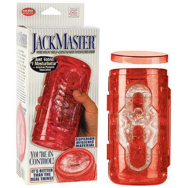 California Exotic Jack Master, красный Мастурбатор премиум класса x play master collar ошейник с надписью master