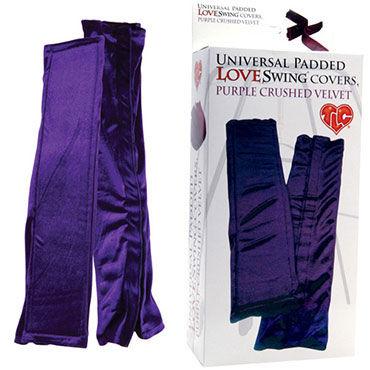 Topco чехлы, фиолетовые Бархатистые, для любовных качелей воротнички и эротичные манжеты цвет белый