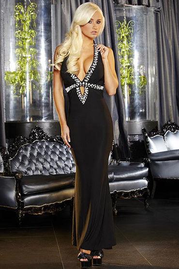Hustler платье, черное С вырезом-капелька