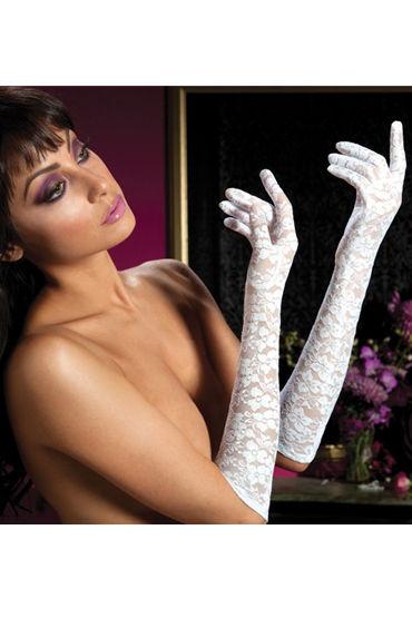 Seven til Midnight перчатки, белые Из цветочного гипюра kanikule малая анальная пробка золотая с радужным кристаллом