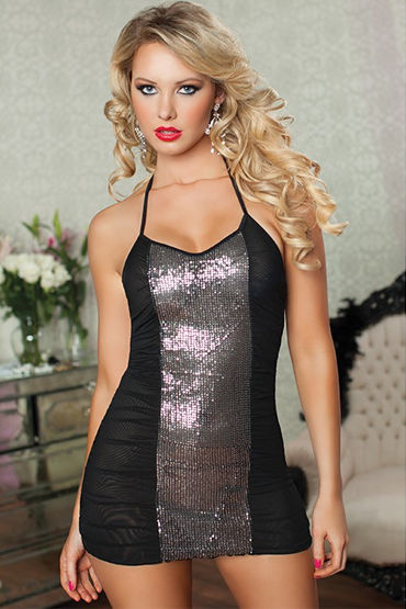 Seven til Midnight комплект Сексапильное неглиже и стринги women sexy straps perspective lace white nightwear dress babydoll underwear sleepwear