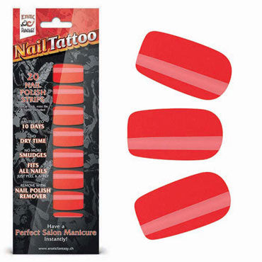 Erotic Fantasy Nail Tattoo, красный шик Набор лаковых полосок для ногтей koko tattoo