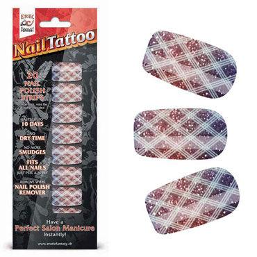 Erotic Fantasy Nail Tattoo, блестящий градиент Набор лаковых полосок для ногтей erotic fantasy black dots типсы для ногтей из акрила