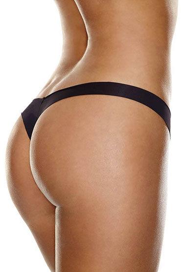 Hollywood Curves Invisible Thong, черные Невидимые трусики стринги hollywood curves boobieboosters silicone enhancers вкладки на грудь размером ав