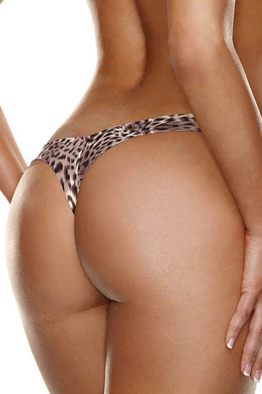 Hollywood Curves Invisible Thong, леопардовые Невидимые трусики стринги hollywood curves invisible thong телесные невидимые трусики стринги размер m l