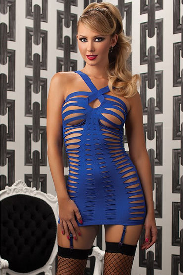 Seven til Midnight платье, синее С вырезами подвязки материал полиэстер ral