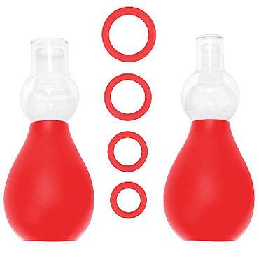Shots Toys Nipple Erector Set, красный Набор для стимуляции груди shots toys vibrating nipple belts фиолетовый вибростимуляторы груди