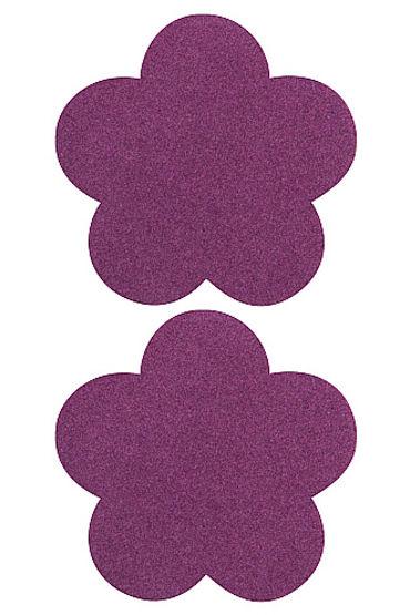 Shots Toys Nipple Sticker Blossom, фиолетовые Пэстисы в форме цветочков shots toys nipple sticker butterfly фиолетовые пэстисы в форме бабочек
