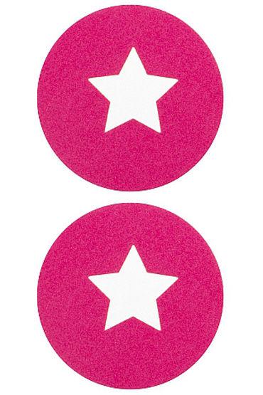 Shots Toys Nipple Sticker Round Open Stars, розовые Пэстисы в форме кругов, с отверстиями в форме звездочек популярные товары для взрослых baci lingerie женское нижнее белье