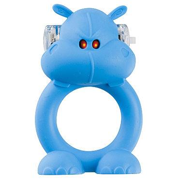 Shots Toys Happy Hippo Эрекционное виброкольцо в виде бегемот клиторальный стимулятор venus penis