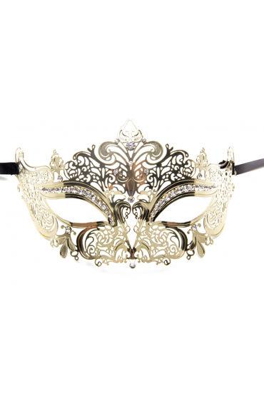 Shots Toys Princess Masquerade Mask, золотая Маска на глаза в венецианском стиле ouch forrest queen masquerade mask серебристая маска на глаза в венецианском стиле