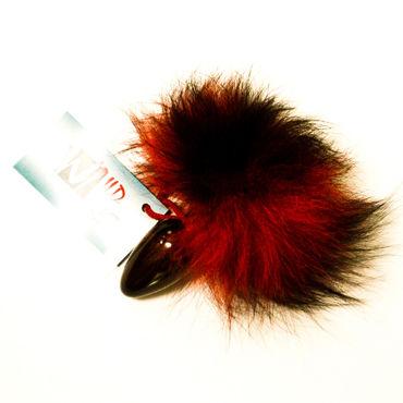 Wild Lust Анальная пробка 4см, красно-черный С заячьим хвостом you2toys black velvet cock ring ball черное кольцо с анальным шариком