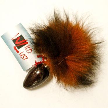 Wild Lust Анальная пробка 4см, оранжево-черный С заячьим хвостом wild lust анальная пробка 4см оранжево черный с заячьим хвостом