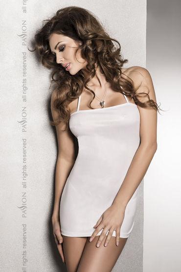 Passion Beltis White Сексуальное платье с открытой спиной kanikule малая анальная пробка золотая с радужным кристаллом