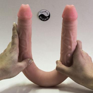 Bioclon Фаллоимитатор реалистичной формы, телесный Двухсторонний topco avi dar фаллоимитатор реалистичной формы
