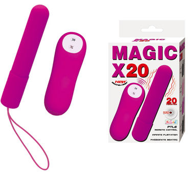 Baile Magic X20, фиолетовая Длинная вибропуля с дистанционным управлением вибропуля wings of desire