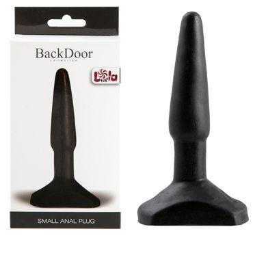 Lola Toys Back Door Small Anal Plug, черная Маленькая анальная пробка hot super glide raspberry 75 vk w
