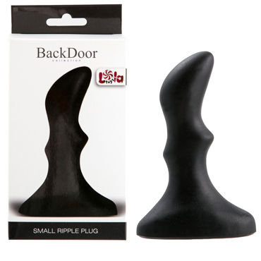 Lola Toys Back Door Small Ripple Plug, черная Маленькая анальная пробка с волнистым рельефом ns novelties jelly rancher ripple t plug фиолетовая анальная пробка