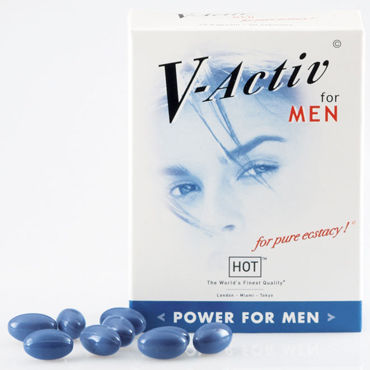 Hot V-Activ For Men, 20 капсул Для улучшения потенции v hot exxtreme power caps 5 капсул