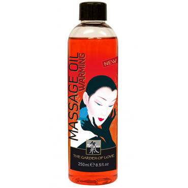 Shiatsu Warming Massage Oil, 250мл Массажное масло разогревающее hot bio massage oil cayenne pepper 100 мл органическое массажное масло с кайенским перцем