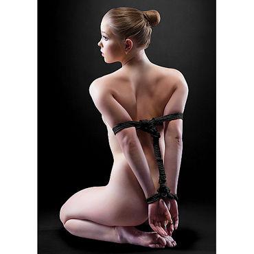 Ouch! Japanese Rope 5м, черная Нейлоновая веревка ouch body bondage tape черная лента для тела