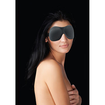 Ouch! Curvy Eye mask, черная Маска на глаза ouch extreme neoprene mask черная плотная маска на лицо