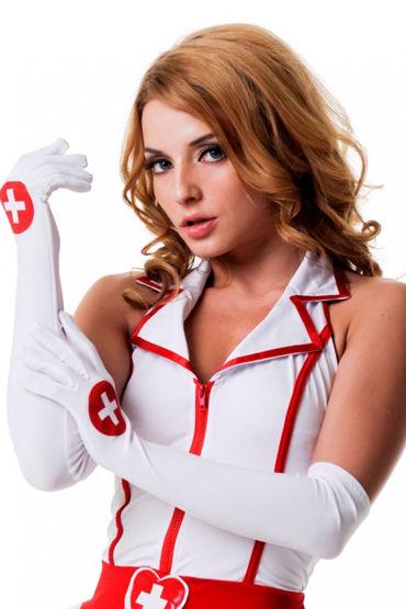 Le Frivole Перчатки Для образа медсестры le frivole безупречная служанка эротичный наряд с кружевной отделкой