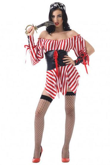 Le Frivole Морская разбойница Платье, повязка на глаз, головной убор, чулки и кинжал le frivole соблазнительная стюардесса платье чулки перчатки и пилотка