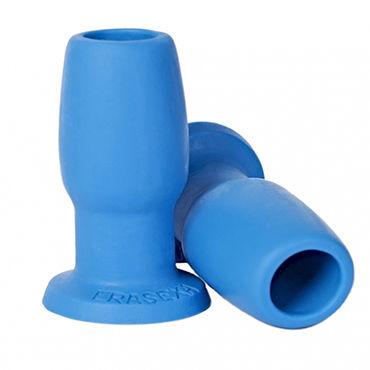 Erasexa анальная втулка, голубая Со сквозным отверстием luxurious tail анальная пробка фигурная с красным стразом серебристая металлическая