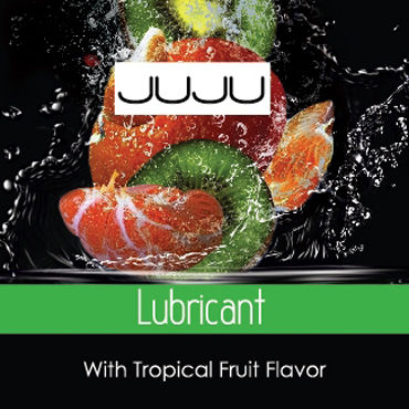 JuJu Lubricant Tropical, 3мл Съедобный лубрикант, Тропические Фрукты juju lubricant long 100 мл пролонгирующий лубрикант