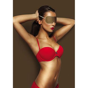 Ouch! Eyemask, коричневая Маска на глаза ouch tribal masquerade mask черная маска на глаза в венецианском стиле