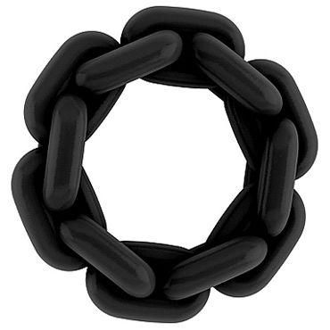 Shots Toys Sono Chain Cockring №4, черное Эрекционное кольцо baile анальная цепочка с удобным держателем