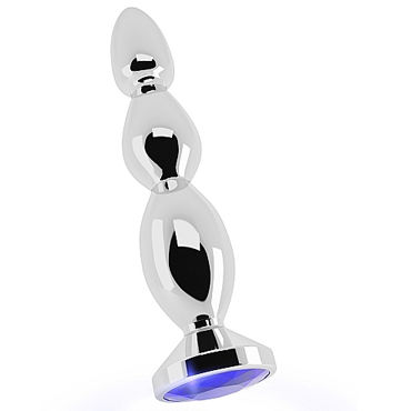 Shots toys Rich Silver Plug Purple Sapphire R3 Анальная пробка со стразом gopaldas sensuously smooth серебристый компактный и гладкий вибратор