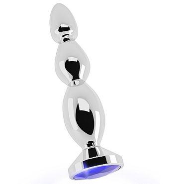 Shots toys Rich Silver Plug Purple Sapphire R3 Анальная пробка со стразом ресницы brilliant crystals deluxe