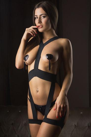 Mens dreams Эротический костюм, черный Комбинезон из эластичных лент mens dreams эротический костюм черный боди из эластичных лент