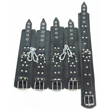 BDSM Арсенал Комплект фиксаторов, коричневый Ошейник, наручники и наножники популярные товары для взрослых ивыь арсенал ф