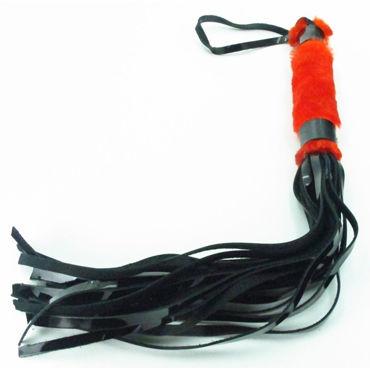 BDSM Арсенал Лаковая плеть с красным мехом Многохвостая анальный стимулятор nuo anal vibrator с вибрацией черный