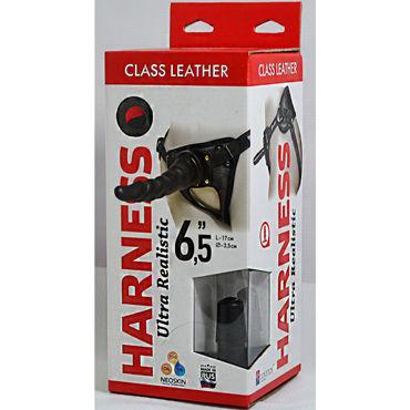 Bioclon Harness Ultra Realistic 17см, черный Страпон с трусиками страпон реалистик vac u lock set 8 realistic ultra harness