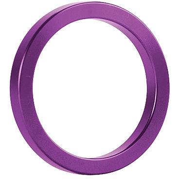 Shots Toys Metal Cockring, фиолетовое Металлическое кольцо на пенис fuck machines переходник для сменных насадок